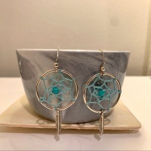 Jewelry - Dreamcatcher boho small hoop earrings